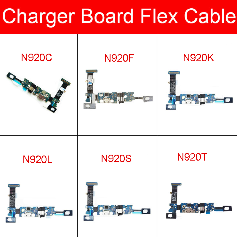Charger USB Jack Board For Samsung Galaxy Note 5 N920C N920F N920G N920i N920K N920L N920S N920T Charging Port Module Usb Board