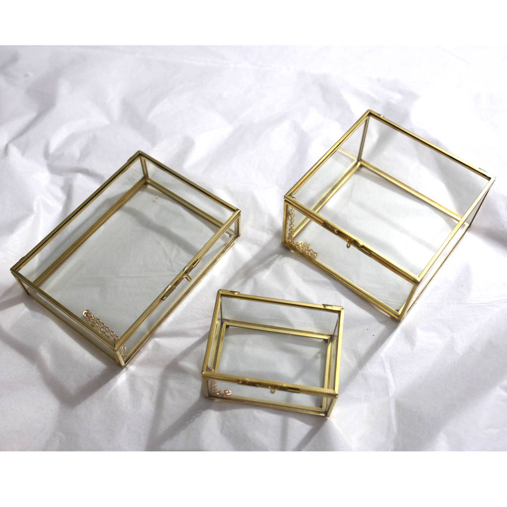Glass House Terrarium Geometric Container Planter Wedding Card Box Candle Table Decor For Jewelry Succulent