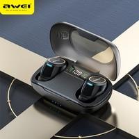 Awei TA3 TWS Ohrhörer ANC Aktive Noise Cancelling Ohrhörer Sport Drahtlose Bluetooth 5,0 Mit Led-anzeige Surround Stereo Kopfhörer