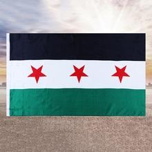 Three-Star-Flag Banner Syrian Hanging Republic Home-Decoration Arab 90--150cm