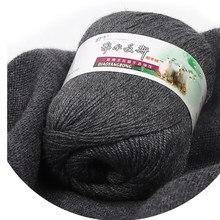 500g fio de caxemira mão tecida malha média grossa pura lenço de lã do bebê chapéu de lã fina macio confortável worsted tecelagem vp004