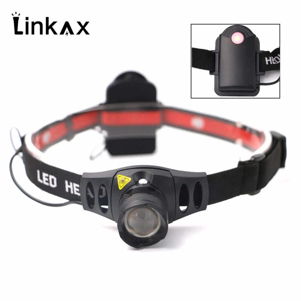 Q5 1000LM 4 Modes LED Headlight Headlamp Zoomable Focus Head Lamp Torch Flashlight Camping Spotlight Lantern For Hunting,Use AAA