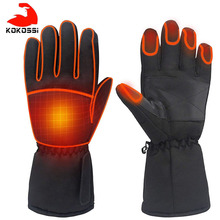 KoKossi Motorcycle Gloves Waterproof Heated Touch Screen Battery Powered Motorbike Racing Riding Ski Gloves Heated Winter