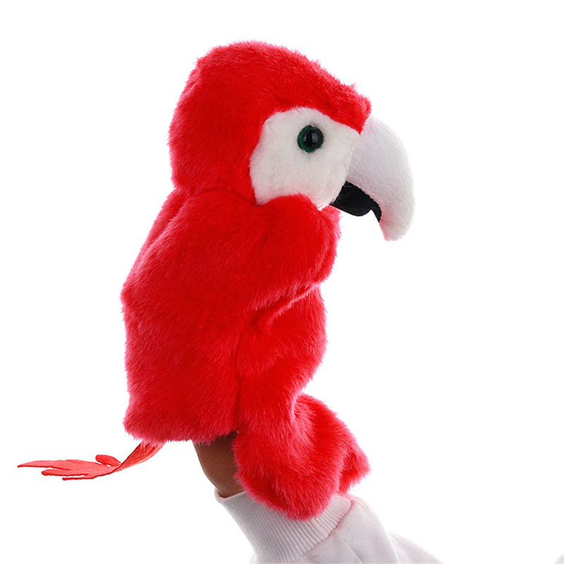 Parrots Hand Puppet Animal Doll Toys Cartoon Funny Puppets Soft Plush Toy AN88
