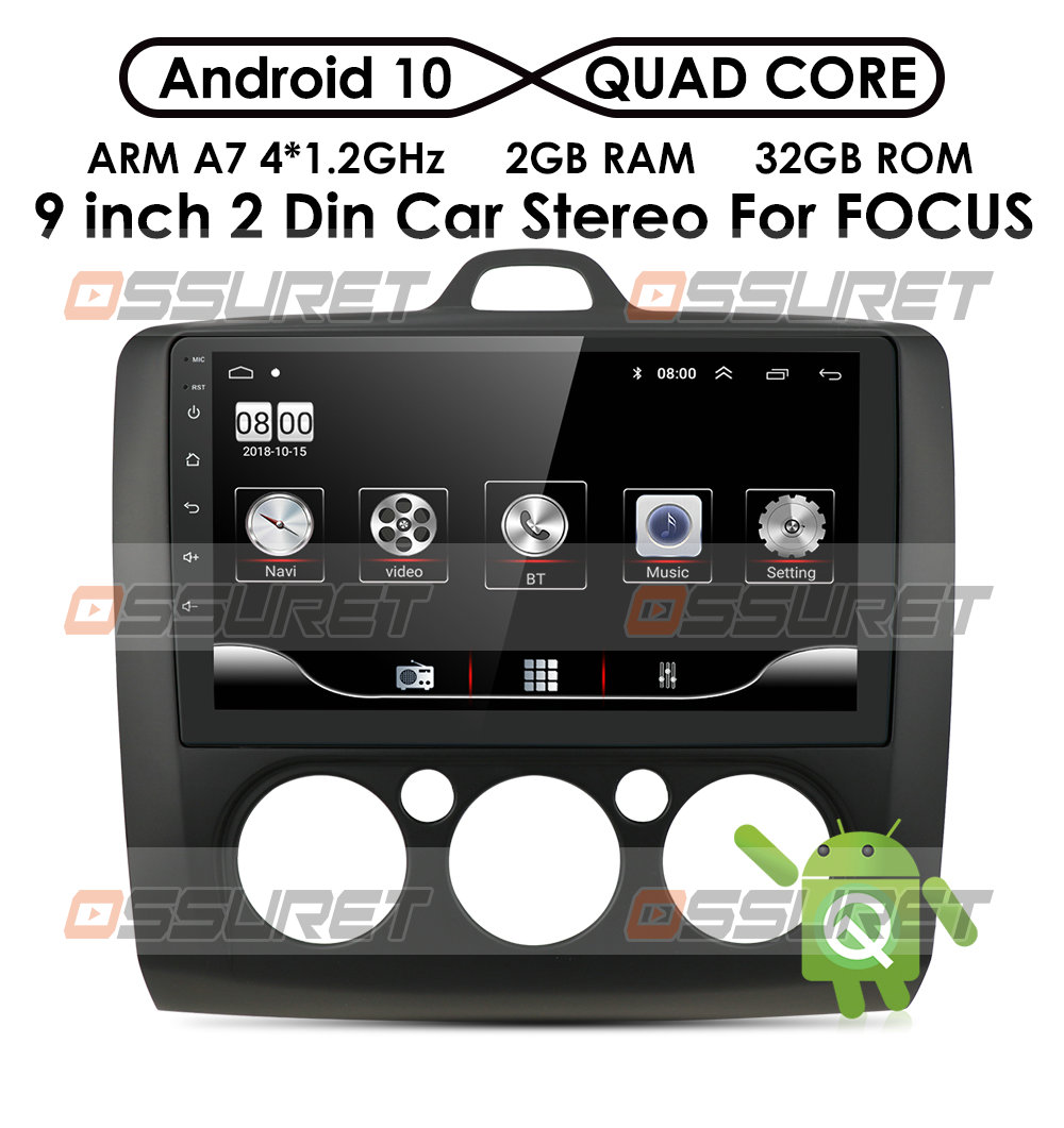 Android 10 2Din GPS мультимедийный плеер автомобильное радио для Ford Focus EXI MT 2 3 Mk2 Mk3 2004 2005 2006 2007 2008 -2011 Wifi 4g SWC USB
