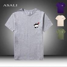 Camiseta negro-Azul marino para los hombres-mujer de cuello redondo 2021 novedad de verano chulas de hombre Camiseta Vintage Hip Hop bordado camisetas