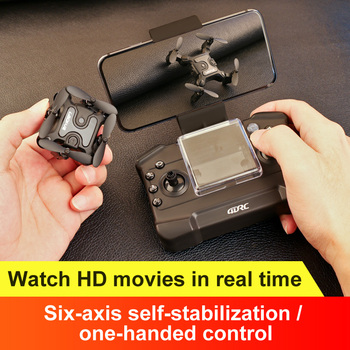 Mini Drone With 1080p HD Camera Hight Hold Mode RC Quadcopter RTF WiFi FPV Foldable Helicopter Kid's Toys VS 901H e58 DRONE