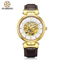 STARKING, мужские часы, люксовый бренд, скелет, автоматические механические часы, ретро стиль, мужские кожаные Наручные часы, мужские часы