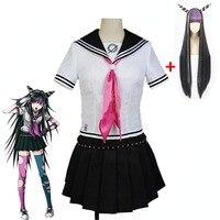 Anime Super Dangan Ronpa 2 Danganronpa Ibuki Mioda Cosplay Costumes Skirt And Wig Halloween for Women Custom Made Free Delivery