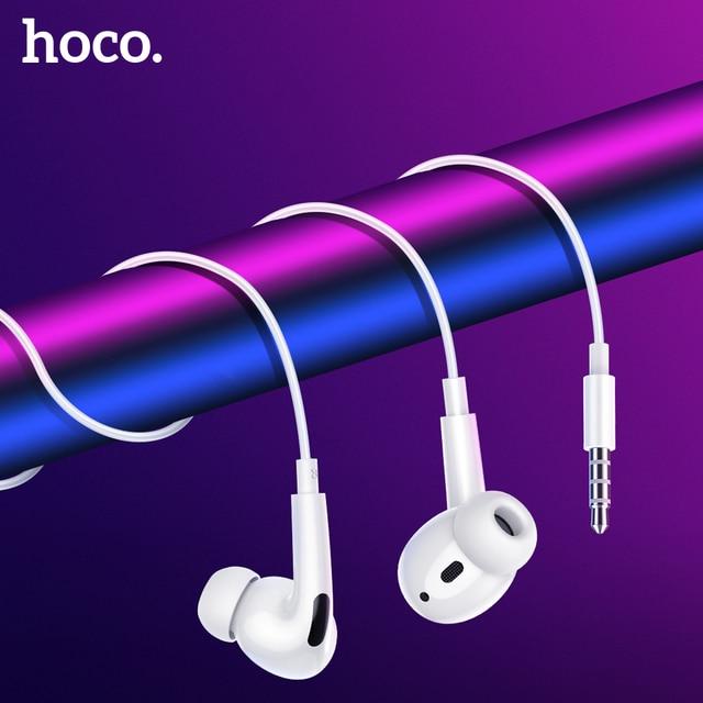 HOCO Wired אוזניות סוג C סופר בס סטריאו אוזניות עם Mi c ספורט אוזניות 3.5mm שקע עבור iPhone Xiao mi mi 10 פרו אדום mi הערה 8