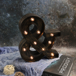 Image 5 - ZMISHIBO A Z & LED Letter Industrial Style Night Lights Holiday Bar Cafe Shop Decor Home Lighting 3D Alphabet Wall Night Lamp