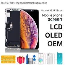 100% getestet LCD Pantalla Für iphone X LCD XS XR 11 Bildschirm LCD Display Touchscreen Digitizer Montage Für iphone X XS XSmax OLED