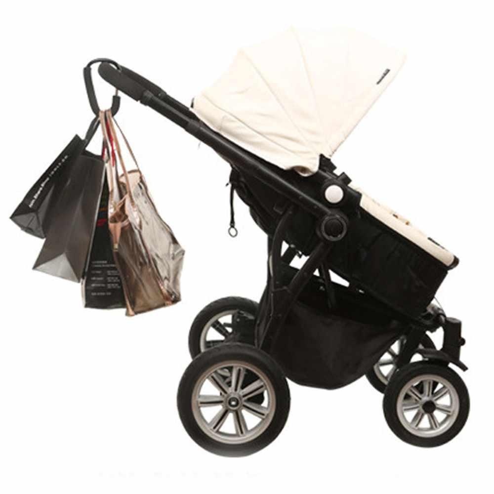 1 قطعة عالية الجودة عربة طفل السنانير الأسود الفضة الألومنيوم حقيبة تسوق عربة السنانير عربة طفل اكسسوارات هوك