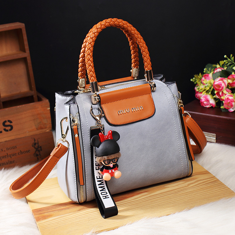 Image 2 - Fashion Ladies Tote Handbag Vintage Bags For Women 2019 Leather 