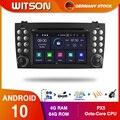 DE В наличии! WITSON! PX5 Android 10 DPS автомобильный DVD-плеер для Benz R171 W171 Benz SLK R171 SLK200 GPS плеер Octa Core 4 Гб RAM + 64 Гб 8