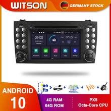 DE ESTOQUE! Dvd do carro de witson px5 android10 dps para o benz r171 w171 slk r171 slk200 jogador gps octa núcleo 4gb ram + 64gb 8