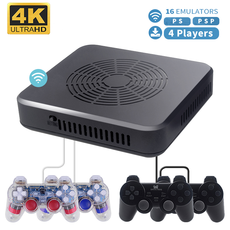 RETROMAX WiFi HD Video Game Console For PS/PSP 16 Emulators Retro Game Built-in 100 3D Games+2900 Games Support 4 Player