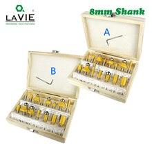 Набор фрез LAVIE MC02006, комплект из 15 насадок 8 мм, для обработки дерева, из карбида вольфрама