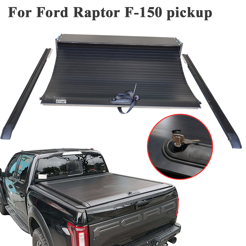 For Ford F150 F 150 Pickup 5 5ft 2010 2020 Truck Bed Aluminum Retractable Roll Up Low Profile Tonneau Cover Truck Accessories Aliexpress