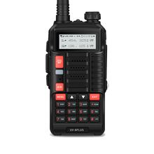 Baofeng UV 6Plus Nova Walkie Talkie uzun menzilli Walkie Talkie VHF UHF 5R 128ch ekran iki yönlü telsiz