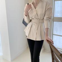 Блузка женская с v образным вырезом Длинная элегантная повседневная