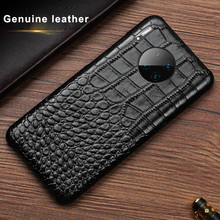 Crocodile Genuine leather Case For Huawei Mate 9 10 20 20X 30 40 Pro Plus Lite Phone Back Cover