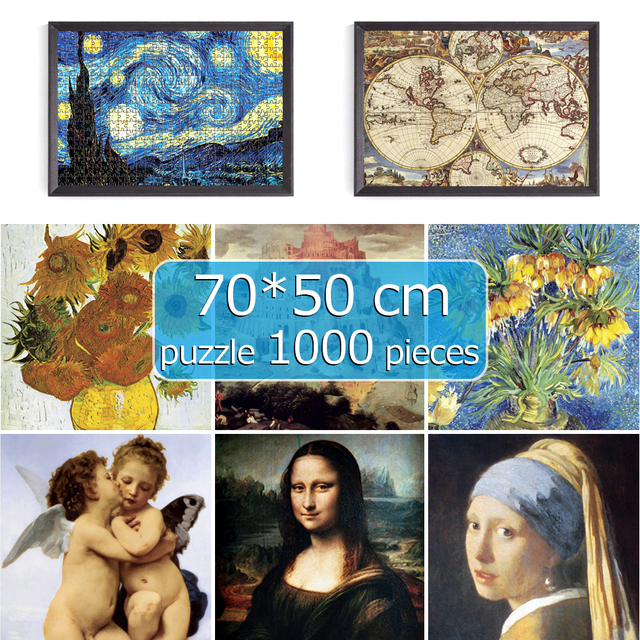 puzzle 1000 pieces jigsaw puzzles 70*50 cm scenery Assembling picture Landscape puzzles toys for adults puzzles games gift