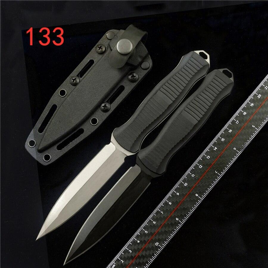 IWOWN BM 133 нож с двойным действием фиксированный нож D2 стальной копье точка простая классическая черная ручка тактические ножи кухонный нож Ножи      АлиЭкспресс