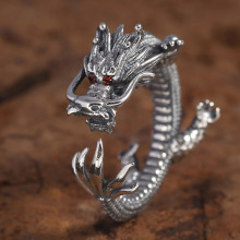 Vintage 316L Stainless Steel Dragon Ring Motorcycle Party Personality Mythology Animal Ring for Men Women Punk Hip Hop Jewelry vintage 316l stainless steel skull skeleton necklace pendant for motorcycle party punk gem necklace hip hop men jewelry