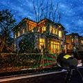 Сказочный небесно-звездный лазерный проектор  светильник  водонепроницаемый  светодиодный  уличный  садовый  пейзаж  сценический эффект  RGB ...