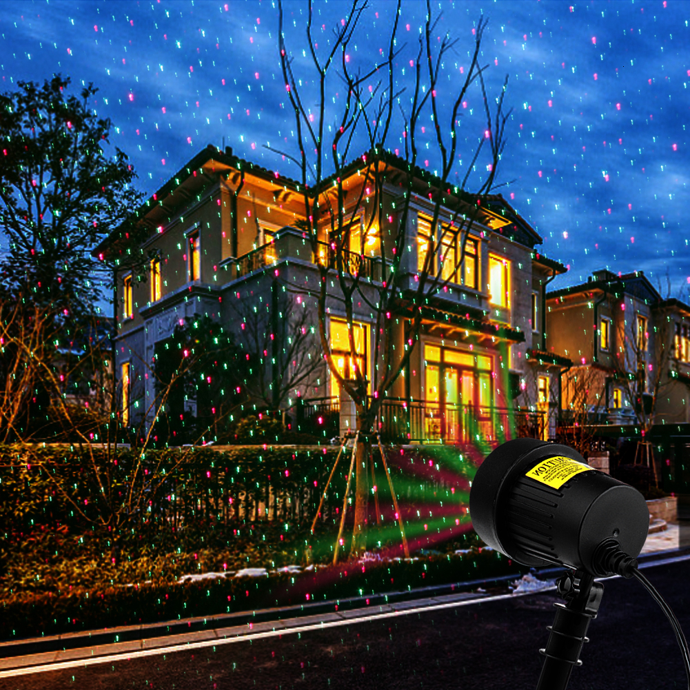Fairy Sky Star Laser Projector Light Waterproof LED Outdoor Garden Landscape Stage Effect RGB Lamp Christmas Decorative