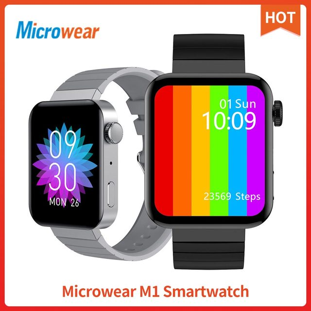 Microwear M1 Đồng Hồ Thông Minh Thể Thao Theo Dõi Nhắc Cuộc Gọi Điện Tâm Đồ Nhiệt Độ Nhịp Tim Cuộc Gọi Bluetooth Âm Nhạc IP68 Chống Thấm Nước Đồng Hồ Thông Minh Smartwatch