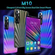 Mais barato smartphone cectdigi m10 5.8 polegada tela cheia smartphone android 4.4 512mb ram + 4gb rom desbloqueado duplo sim telefones celulares