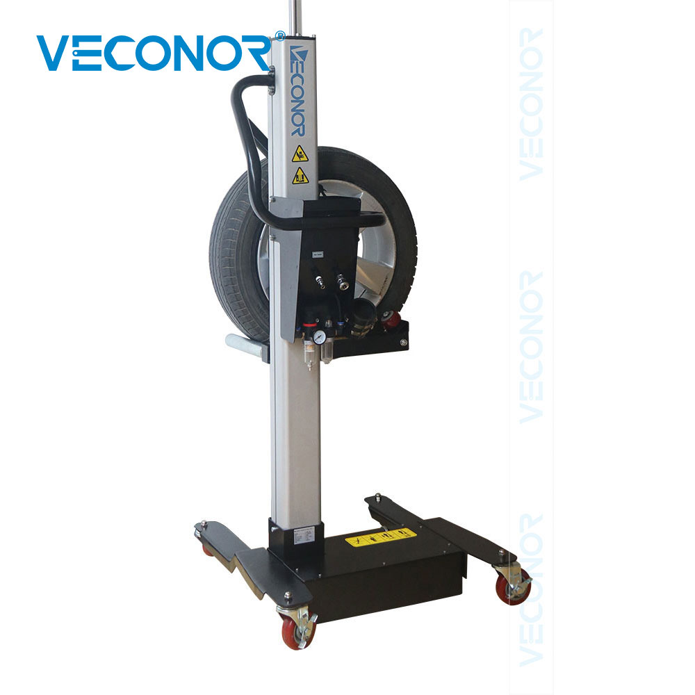 Pneumatic Mobile Wheel Lifter Air Tire Lifting Cart For Tire Storage Tire Installation Or Wheel Balancer