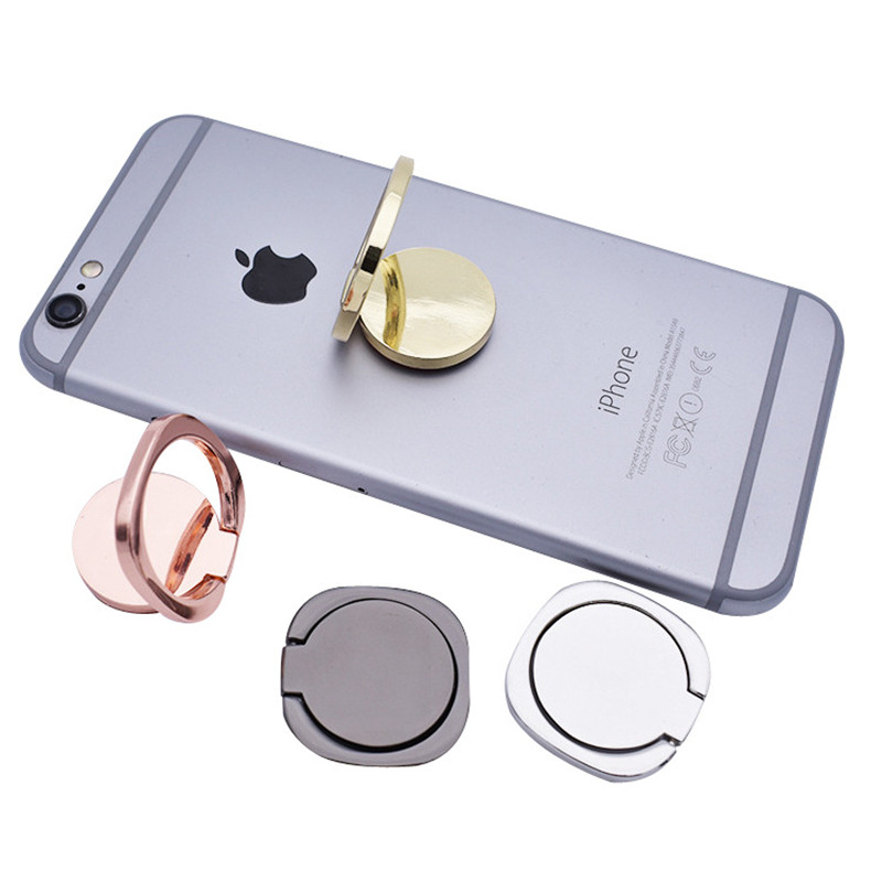 Cellular Phone Support Accessories Magnetic Car Stand Phone Holder Luxury Metal Phone Ring Stand Phone