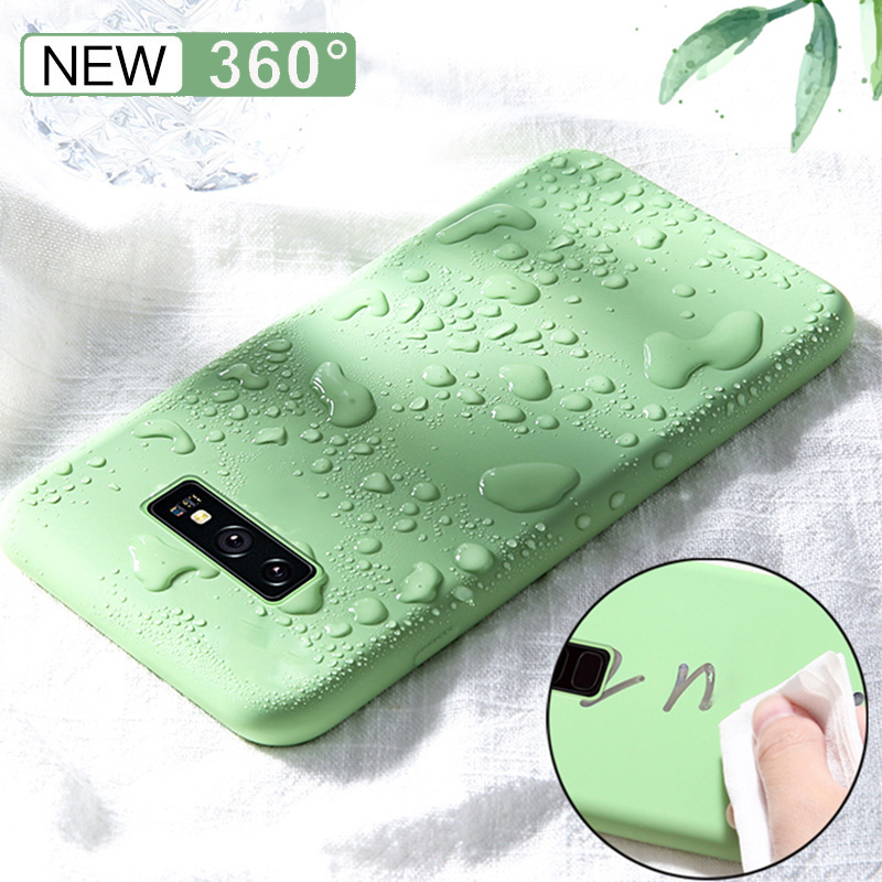 Luxury Liquid Silicone Soft Phone Cover for Samsung Galaxy S10 Plus S10E S8 S9 Note 8 9 A50 A40 A60 Mobile Phone Case Coque Capa