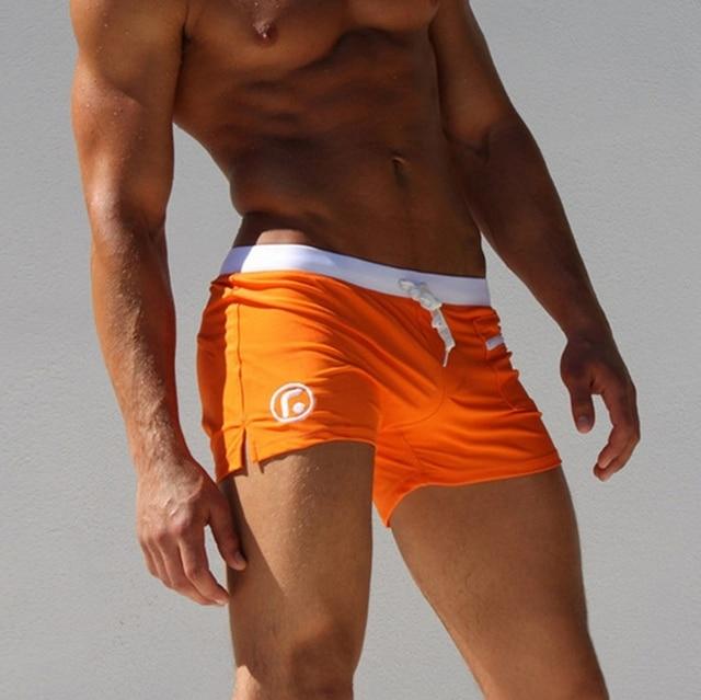 UK Men Swim Shorts Swimwear Swimming Trunks Underwear Boxer Briefs Pants M-2XL 4