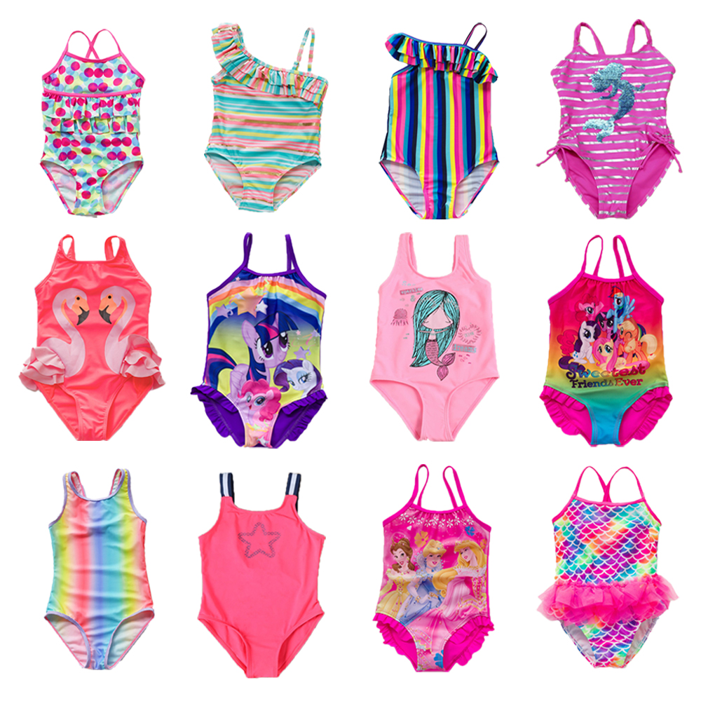 Girls Swimwear Swimsuits Beachwear Pineapple One-Piece Children Summer G1-K517 title=