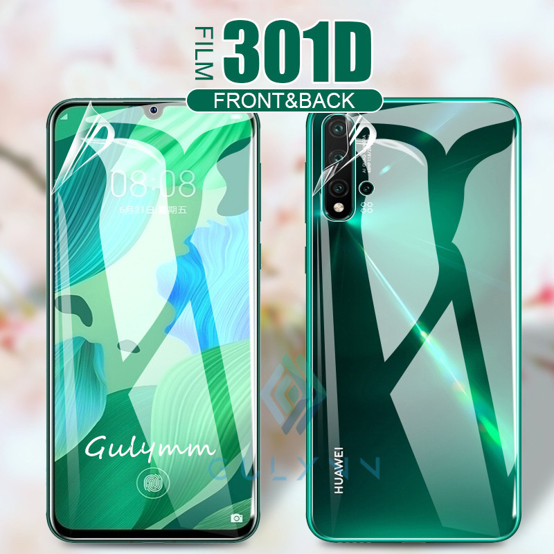 Front & Back 301D Curved Edge Soft Hydrogel Film For Huawei Mate 30 Pro 20 P30 P20 Lite Screen Protective Film For Honor 9X 20