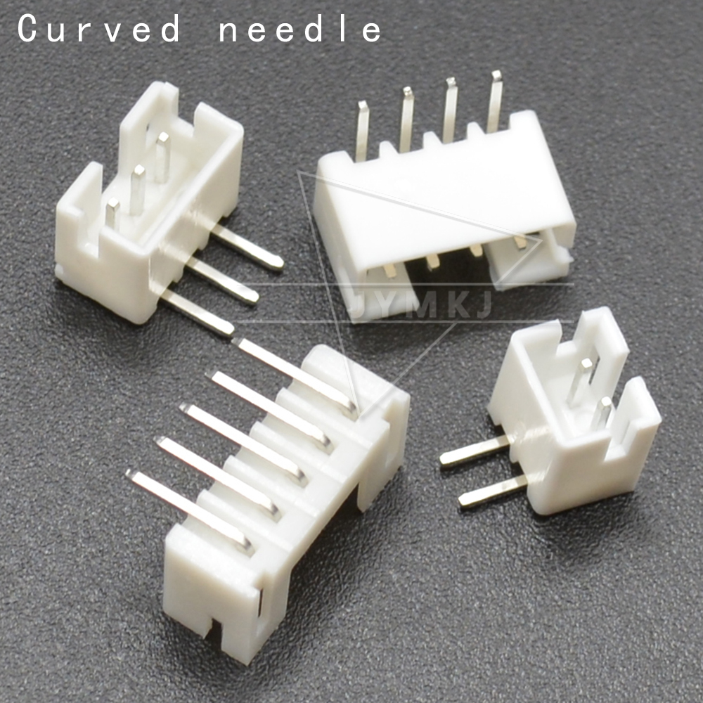 50pcs/LOT JST PH 2.0 Connector Male Right Angle Material PH2.0 2mm Connectors Leads 2P 3P 4P 5P 6P 7P 8P 9P 10P 11P 12 Pin Header PH-AW 2.0mm