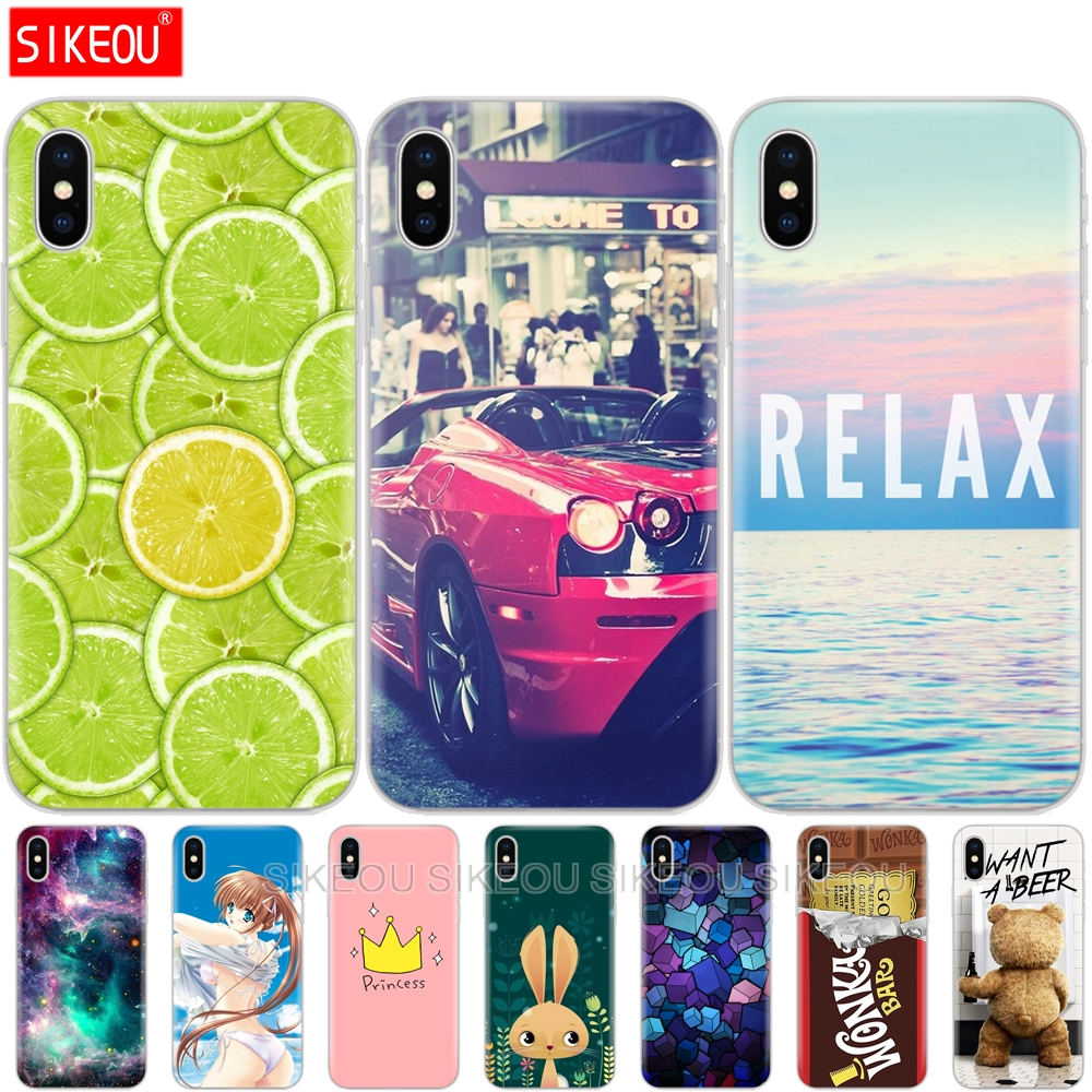 <font><b>Sillicon</b></font> Cover Phone <font><b>Case</b></font> For <font><b>apple</b></font> <font><b>Iphone</b></font> 6 <font><b>X</b></font> 8 7 6s 5 5s SE 10 Plus Coque <font><b>Case</b></font> fashion funny cute etui full 360 protective image