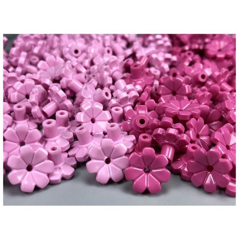 237Pcs Block Cherry Blossom Tree House Plants Flowers Building Blocks Set DIY City Street MOC Accessories Model Bricks Kids Toys (7)