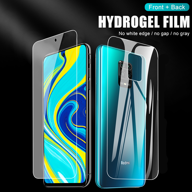 Front+Back Protector Hydrogel Film Full Cover For Xiaomi Redmi Note 9 8 7 Pro Max 8T 9S 7A 8A K30 Pro Screen Protector Not Glass 6
