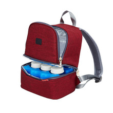 Multi-function printing Mummy bag back milk storage double diaper baby care out bottle insulation package