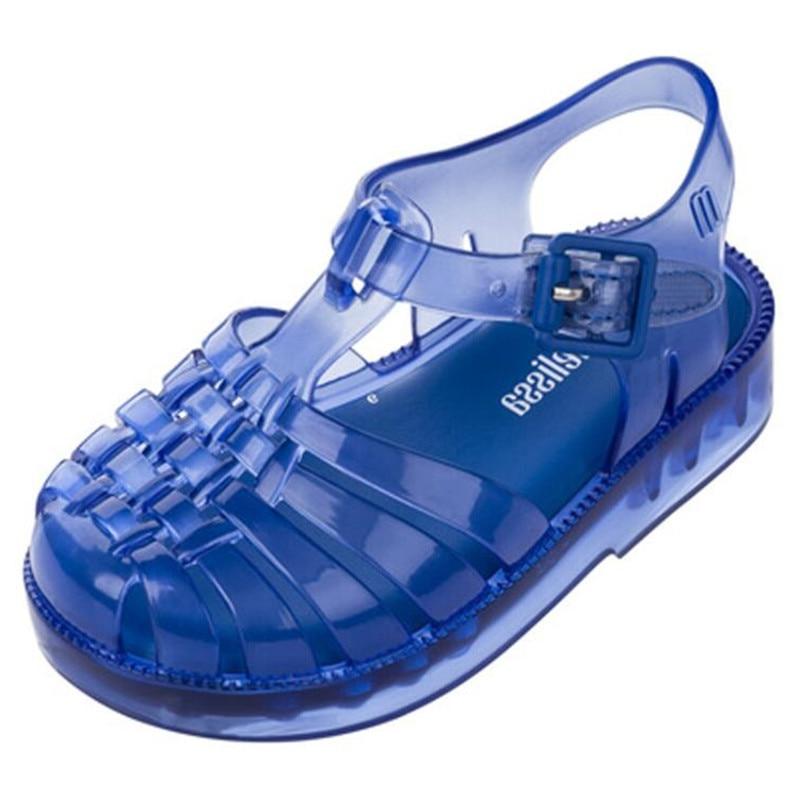 Mini Melissa Boys Shoes Girls Jelly Shoes Baby Girls Sandals Infants Baby Shoes Roman Cut-out Shoes Children's Beach Shoes