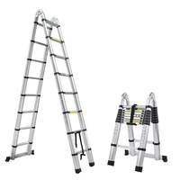 1 PCS 2.5M+2.5M Alluminum Telescopic Ladder With Joint|Ladders|Tools -