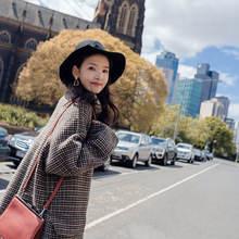 Новое шерстяное пальто для женщин средней и длинной длины Свободное