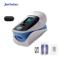 JianYouCare cyfrowy pulsoksymetr napalcowy OLED medyczny pulsioximetro SPO2 oximetro de dedo miernik nasycenia tlenu we krwi i etui