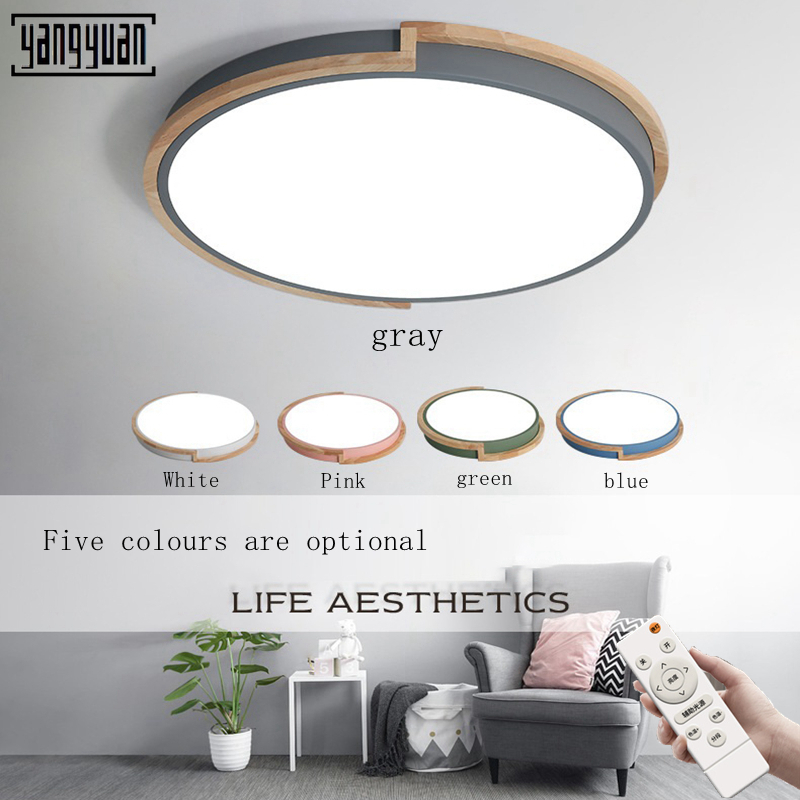 LED ceiling lamp Nordic round bedroom attic corridor modern acrylic log children living room light