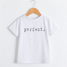 White T-Shirt Clothing Tops Short-Sleeve Boys Kids Girls Summer Cotton Children's Pure